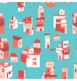 House set Asian city pattern