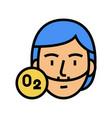 human breath oxygen tool color icon vector image vector image