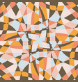 kaleidoscope mosaic tile background pattern vector image