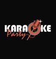 karaoke party emblem vector image vector image