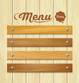 Menu wood board design background