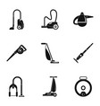 modern carpet sweeper icon set simple style vector image