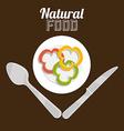Natural food design vector image