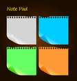 note pad vector image vector image