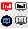 online chart eps icon with contour version vector image vector image