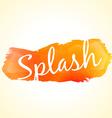 Orange color ink splash