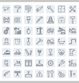 Outline web icons set - building construction and vector image