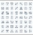 outline web icons set - building construction vector image