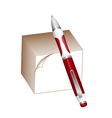 Pen and note block vector image vector image