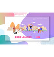 people having good day in public park relaxing vector image vector image