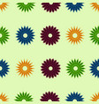 pixel ornament pattern flower vector image