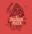 pizza poster for restaurant and cafe vector image vector image