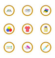 printing icons set cartoon style vector image vector image