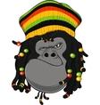 Rastafarian monkey vector image vector image