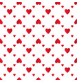 red hearts seamless pattern vector image vector image