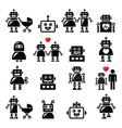 robot family female barobot icons set vector image