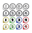 rounded multicolor pointers with numbers - vector image vector image