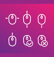 scroll up down with mouse icons vector image