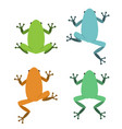 set of frog in flat style vector image vector image