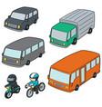 set of transportation vector image vector image