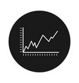 statistical icon chart vector image vector image