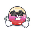 super cool jelly ring candy character cartoon vector image