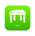 table icon green vector image
