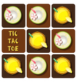 Tic-Tac-Toe of pineapple juice and coconut water vector image