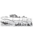 travel greece background athens city famous vector image vector image