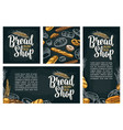 vertical poster with bread color hand vector image