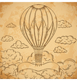 vintage airship with ribbon vector image