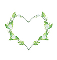 White Jasmine Blossoms in A Heart Shape vector image vector image