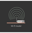 Wi-fi router vector image vector image