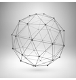 Wireframe mesh polygonal sphere vector image vector image