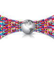 World Flags Background With A Globe vector image vector image