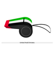 A Whistle of The United Arab Emirates vector image