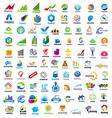 large set of logos Finance vector image