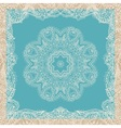 Vintage ornamental round lace pattern vector image