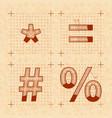 medieval inventor sketches of special signs retro vector image