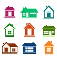 colorful cottage set vector image