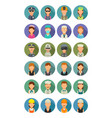 set icon different professions character cook vector image