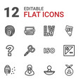 12 stamp icons vector image vector image