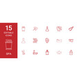 15 spa icons vector image vector image