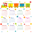 2014 train kids calendar vector image vector image