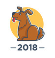2018 year of dog according to chinese calendar vector image vector image