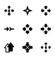 9 orientation icons vector image vector image
