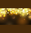 abstract gold bokeh lights background vector image vector image
