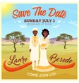 Africans Wedding Couple Poster vector image vector image