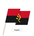 Angola Ribbon Waving Flag Isolated on White vector image vector image