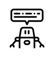 artificial intelligence chat bot sign icon vector image